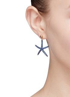 HEFANG 方晶锆石海星纯银耳环
