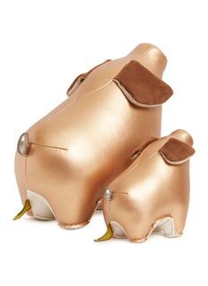 Zuny 生肖猪造型书立及镇纸套装-铜色