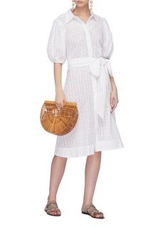 LISA MARIE FERNANDEZ 镂空雕花系带纯棉连衣裙