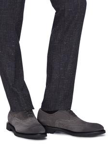 Doucal's Point雕花装饰绒面真皮牛津鞋