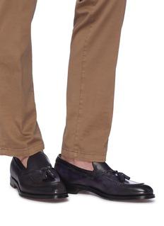 Doucal's Fade流苏装饰真皮乐福鞋