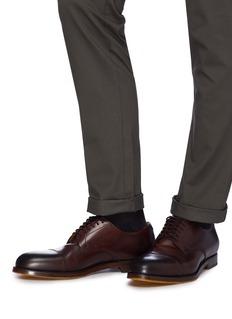 Doucal's Crimp真皮德比鞋