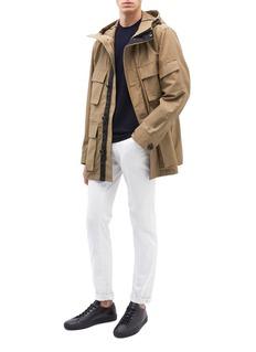 THEORY Vernon口袋设计棉混尼龙连帽夹克