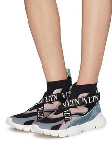 Valentino Heroes Her VLTN交叉搭带拼接设计袜靴式运动鞋