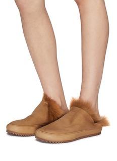 PEDRO GARCÍA Jan真皮拼接小羊皮毛一体拖鞋