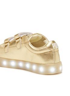 POP Shoes St Laurent儿童款LED灯真皮搭带运动鞋