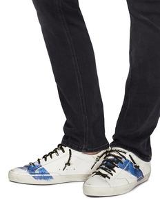 GOLDEN GOOSE Superstar手绘条纹真皮运动鞋