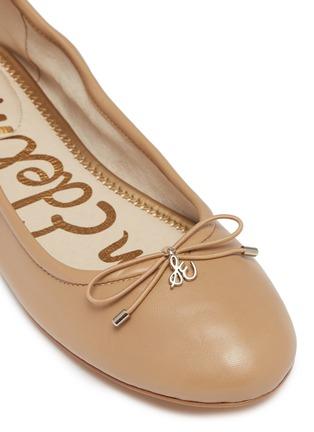 细节 - 点击放大 - SAM EDELMAN - Felicia蝴蝶结真皮芭蕾平底鞋