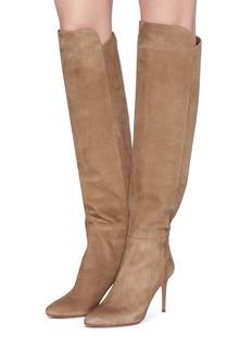 AQUAZZURA Gainsbourg绒面真皮高跟长靴