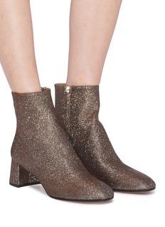 AQUAZZURA Grenelle闪粉粗跟短靴