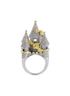 HEFANG 方晶锆石点缀沉睡城堡戒指