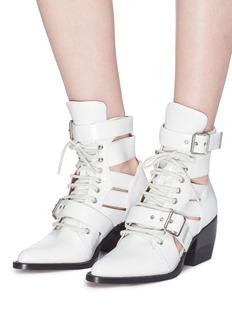 CHLOÉ Rylee切割镂空尖头战斗靴