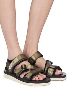SUICOKE KISEE-V三重尼龙搭带凉鞋
