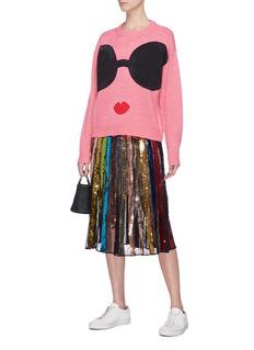 alice + olivia Gleeson Stace Face图案针织衫