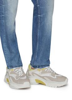 ASH Atomic网眼布拼接真皮运动鞋