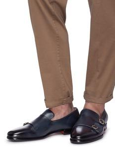 Santoni 真皮僧侣乐福鞋