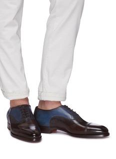 Santoni 拼色真皮牛津鞋
