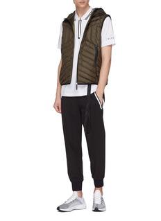BLACKBARRETT 拉链围边条纹纯棉polo衫