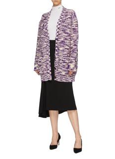 Calvin Klein 205W39NYC 拼色提花羊毛针织开衫