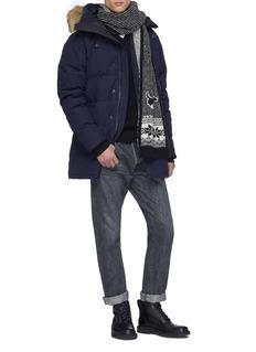 CANADA GOOSE McLeod尼龙拼贴V领美丽诺羊毛针织衫