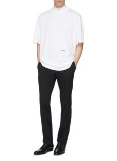 Calvin Klein 205W39NYC 品牌名称刺绣oversize T恤
