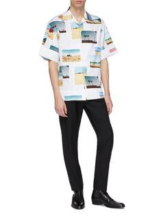 Calvin Klein 205W39NYC 翻折袖口照片印花衬衫