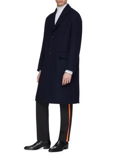 Calvin Klein 205W39NYC 人字纹羊毛针织大衣