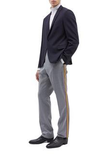 Calvin Klein 205W39NYC 针织侧条纹斜纹布长裤