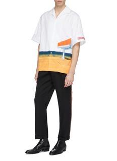 Calvin Klein 205W39NYC 广告牌图案纯棉衬衫
