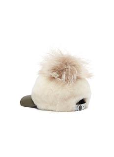 KARL DONOGHUE 狐毛毛球小羊皮毛一体棒球帽