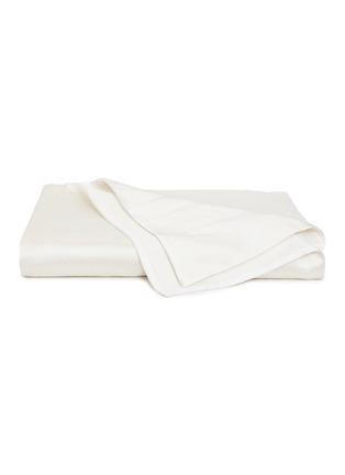首图 –点击放大 - FRETTE - Luxury Sparkling Swirl特大双人床漩涡纹理被套-象牙白色及金色