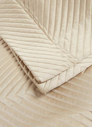 细节 –点击放大 - FRETTE - Luxury Herringbone人字纹混棉及丝床罩-米色