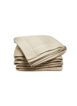 首图 –点击放大 - FRETTE - Luxury Herringbone人字纹混棉及丝床罩-米色
