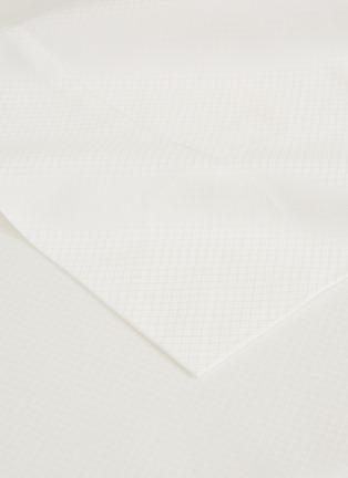 细节 –点击放大 - FRETTE - Net加大双人床网格提花纯棉四件套-奶白色