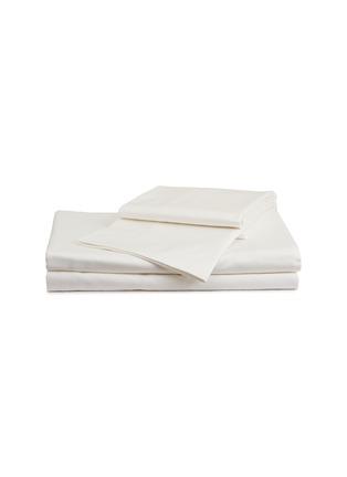 首图 –点击放大 - FRETTE - Net加大双人床网格提花纯棉四件套-奶白色