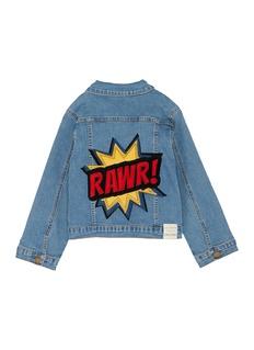 Wee Monster RAWR儿童款怪兽徽章牛仔夹克