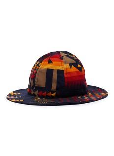 sacai X Pendleton几何图案灯芯绒渔夫帽