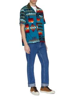 SACAI x Pendleton几何图案灯芯绒短袖衬衫