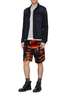 SACAI x Pendleton几何图案灯心绒短裤