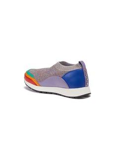 WiNK Liquorice儿童款真皮拼接针织运动鞋