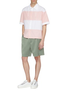 FENG CHEN WANG 拼接条纹纯棉衬衫
