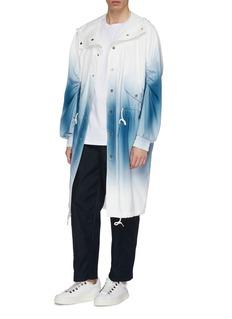 Feng Chen Wang 抽绳衣袖渐变拼色大衣