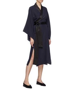 Alex Eagle 缎面衣襟包裹式连衣裙