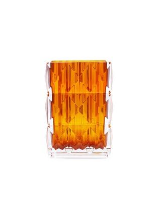 首图 –点击放大 - Baccarat - LOUXOR立体菱形切割水晶花瓶(琥珀色)-20cm