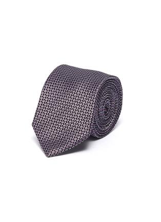 首图 - 点击放大 - LANVIN - 菱格纹提花拼色真丝领带