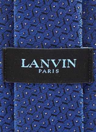 细节 - 点击放大 - Lanvin - 六边形提花真丝领带