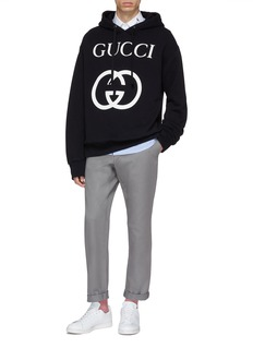 GUCCI GG品牌标志oversize连帽卫衣