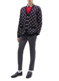 Gucci GG Supreme格纹羊毛针织外套