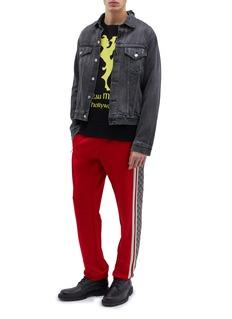 GUCCI GG标志侧条纹oversize休闲裤