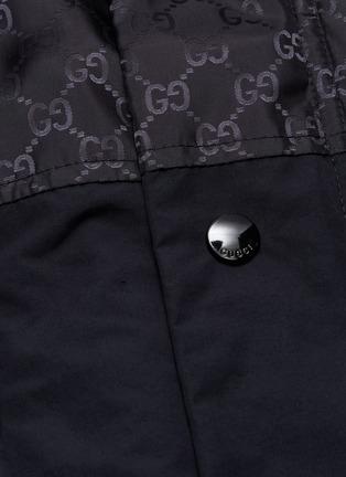 - Gucci - 双G品牌标志拼接夹棉连帽派克大衣